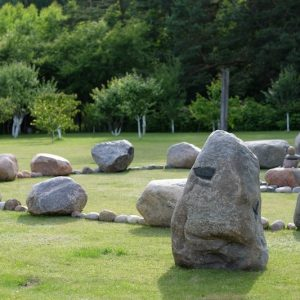 Sacred stone circle at Bardo gallery. © S V Mitchell