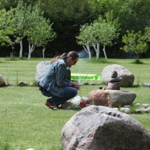 Ceremony in the stone circle at Bardo gallery. © S V Mitchell