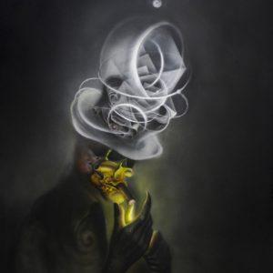 SMOKER 70x50cm acrylic on paper © S V Mitchell