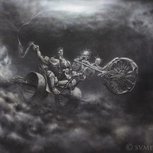 PERKUNAS  [ god of thunder] 160x240cm acrylic  on paper © S V Mitchell