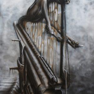 WORSHIP OF FALSE GODS II 115x70cm acrylic on paper © S V Mitchell