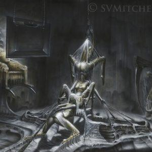 PORNOGRAPHY 115x150cm acrylic on paper © S V Mitchell