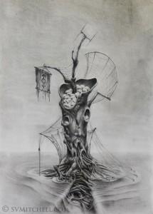 THE TREE II Original Drawing 2015