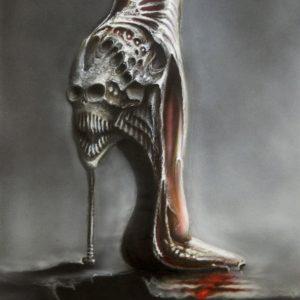 BLOODY SATURDAY NIGHT 55x40cm acrylic on paper © S V Mitchell